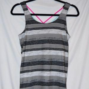 Girls size 16 Tank top black & white stipe